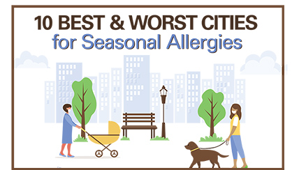 10 Best & Worst Cities for Seasonal Allergies