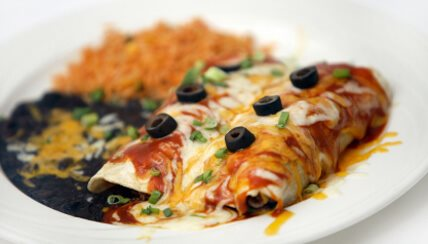 Vegan Black Bean and Tofu Enchiladas