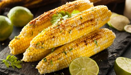 Grilled Corn on the Cob with Lime and Chile