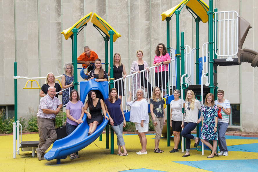 Morgridge Academy Staff Members on Playground