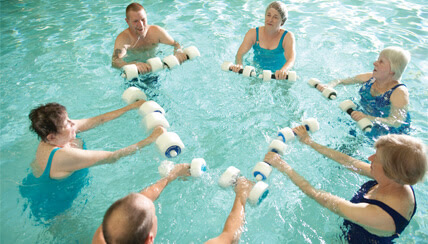 Aquatic therapy class at the National Jewish pool