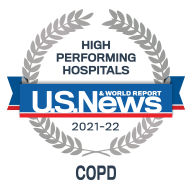 "This year, our COPD and Lung Cancer Surgery program were rated ""high performing,"" the highest rating available."