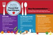 food allergy recommendations infographic