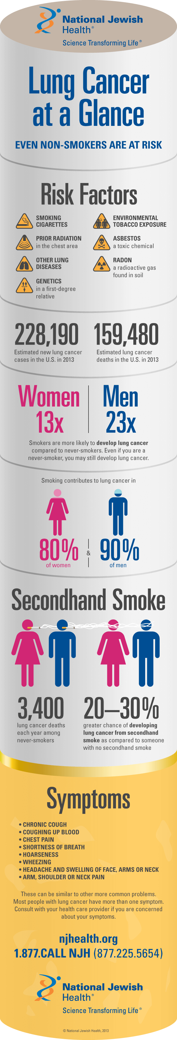 Lung Cancer at a Glance Infographic