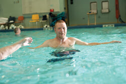Aquatic therapy at NJH's pool