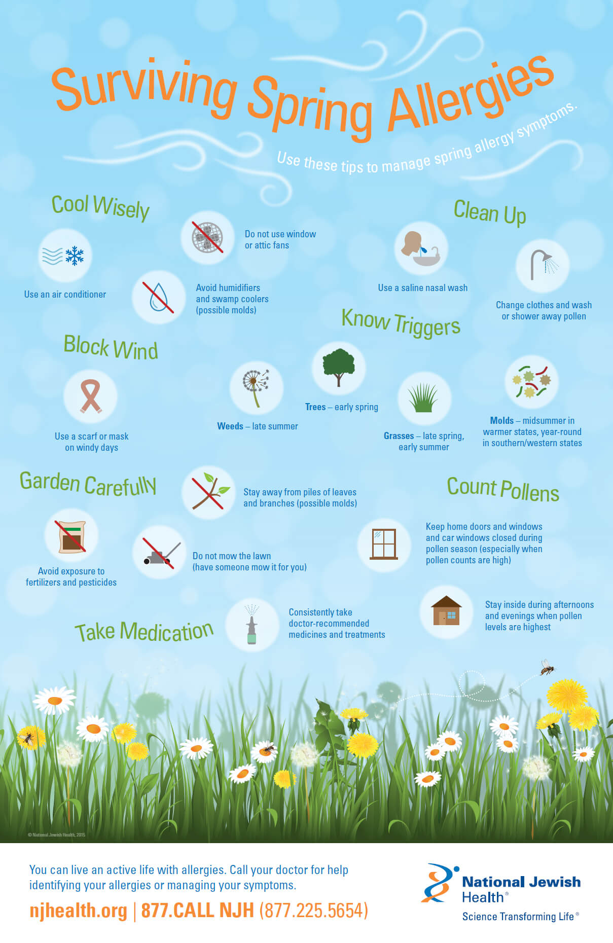 Surviving Spring Allergies Infographic