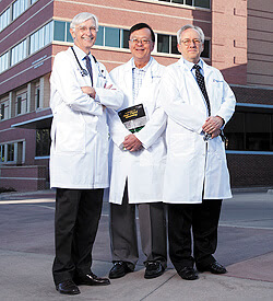 Richard Weber, MD; Donald Leung, MD, PhD; and Stanley Szefler, MD, three physicians with national leadership positions