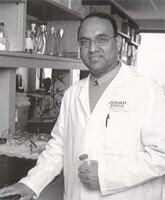 Black and white photograph of Rafeul Alam, MD, PhD.