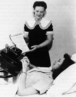Vocational training began while the patient was still bedridden.