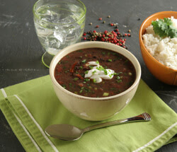 lime black bean soup