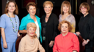 L-R seated: Lila Siegel (Honorary Chair and National Trustee) and Rhona Guberman (Event Chair)  L-R standing: Donna Zweben, Myrna Norwitz, Sheila Stern, Anne Jacobson (National Trustee), Jane Mandell  Photo Courtesy: Dan Rakofsky Photography LLC.