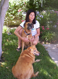 Gina Ladinksy with her dogs.