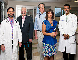 Top Doctors (left to right) Howard Weinberger, MD; James Good, MD; Dan Atkins, MD; Lisa Maier, MD; Rohit Katial, MD.