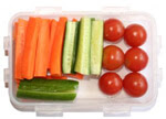 Vegetables help with health snacking