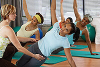 Women in an exercise class
