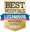 BEST HOSPITALS U.S.News & WORLD REPORT NATIONAL PULMONOLOGY 2015-16