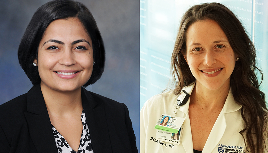 Young investigators Bhavika Kaul, MD, (left) and Dinah Foer, MD, earned first place awards for research abstracts presented at the 16th Annual Respiratory Disease Young Investigators' Forum in October 2020.