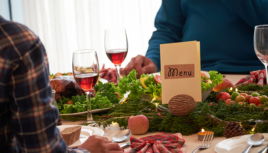Inform guests about dietary restrictions at your party.