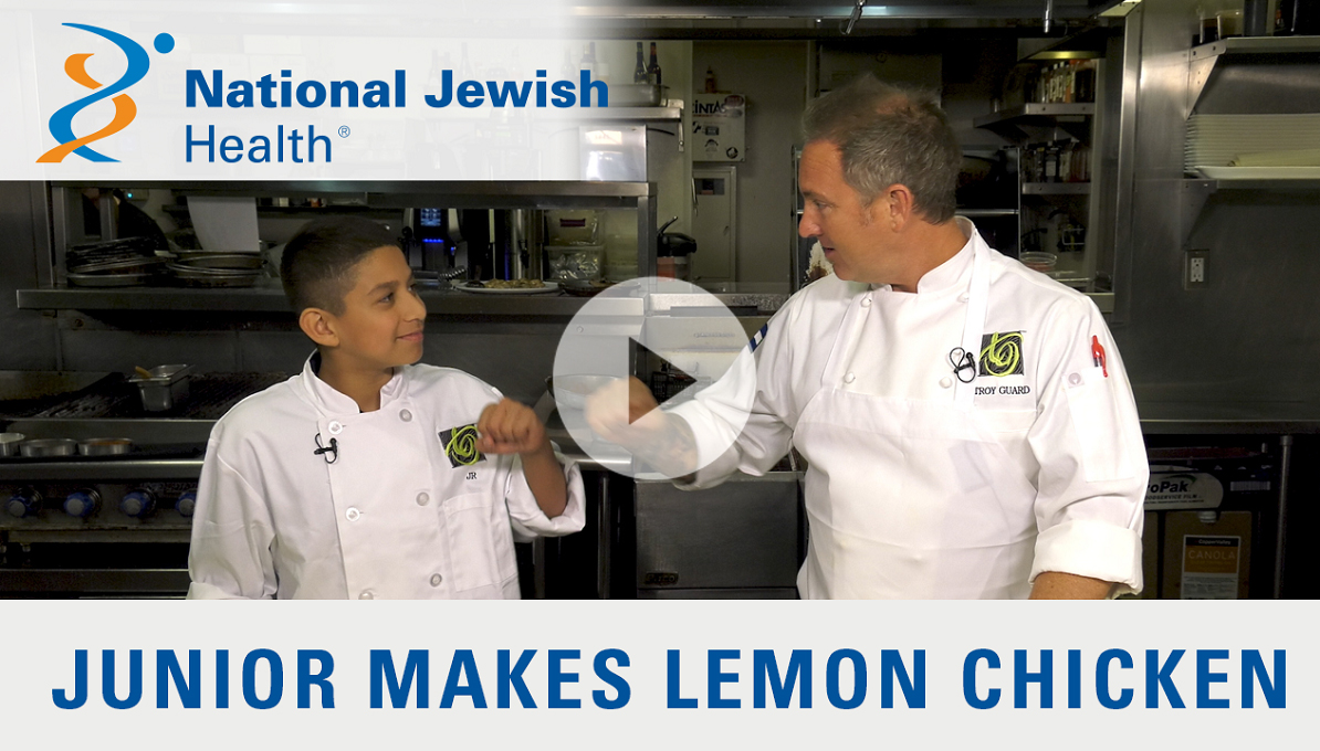 Cooking with Troy: Junior Makes Lemon Chicken with Snap Peas