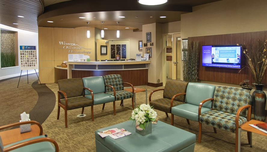 National Jewish Health Western Hematology-Oncology has a welcoming lobby for its patients.