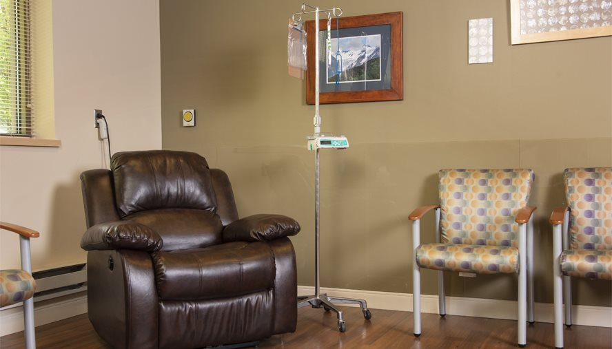 Our chemotherapy suite was designed for the comfort of our patients during their treatments.
