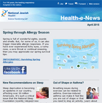 Click here to view archived issues of Health-e-News.