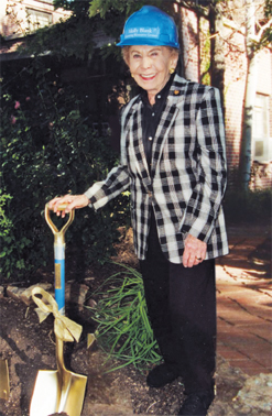 Molly Blank at the groundbreaking of the Molly Blank Conference Center at National Jewish Health in 2001.