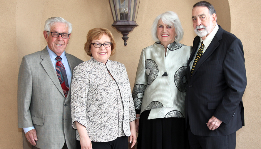 (From Left) Julian Garza and Clementina Garza and Linda H. and James M. Parker were the honorees at the National Jewish Health Spirit of Achievement Award Dinner on May 10.