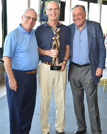 The Annual Golf Tournament was led by (from left) Tournament Chair Emeritus Samuel B. Lewis, Co-Chair and President's Award Recipient Robert E. Helpern, and Co-Chair Stephen B. Siegel.