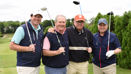 Supporting the Fund to Cure Asthma by playing in the Annual Golf Tournament are Brian Dooley, Tom Bermingham, Tournament Co-Chair Stephen B. Siegel and David Maurer-Hollaender.
