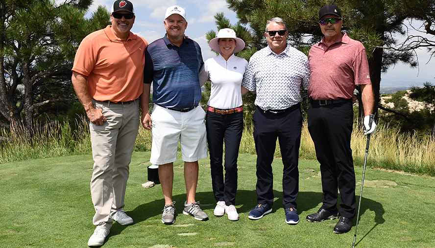Co-chairs of the Night & Day Celebrity Golf Classic were Marc Steron, managing partner of Shanahan's, chair of the National Jewish Health development board, and member of the National Jewish Health board of directors; along with Vic Lombardi, KSE Altitude Sports Radio and TV host.