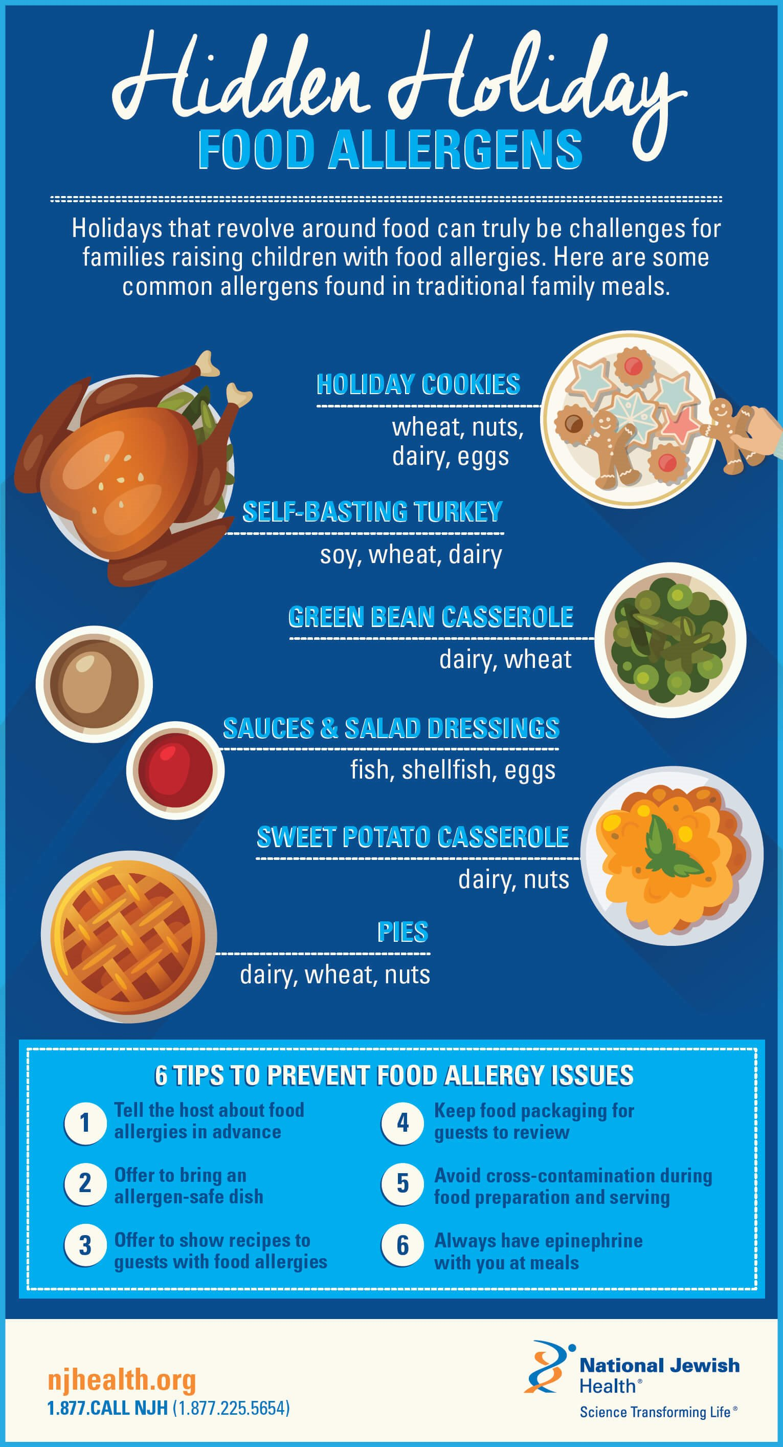 Hidden Holiday Food Allergens Infographic