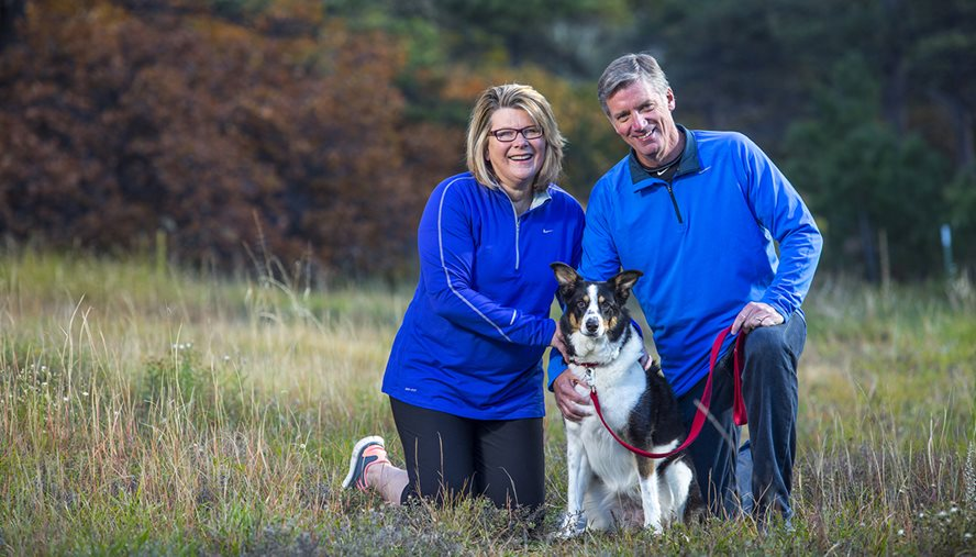 Rheumatologist Aryeh Fischer, MD, looked beyond Laurie Cahill's failing lungs to accurately diagnose her disease so she could once again enjoy life with husband, Jeff, and their dog.