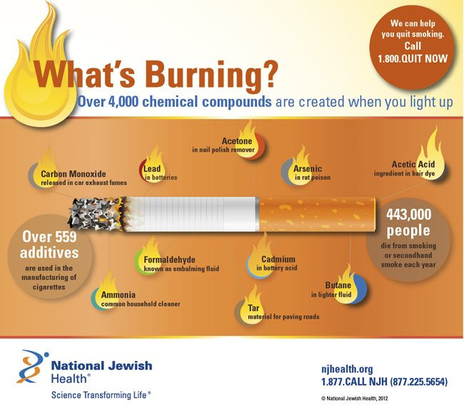 Chemicals in Cigarettes and Tobacco Infographic: What's Burning?